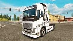 Скин Paul Walker на тягач Volvo для Euro Truck Simulator 2