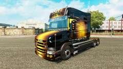 Скин Golden на тягач Scania T