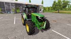 John Deere 6135M v1.0.5 для Farming Simulator 2017