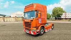 Скин Лукойл на тягач Scania