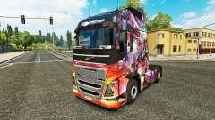 Скин Dragon Princess на тягач Volvo для Euro Truck Simulator 2