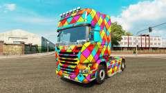 Скин Arlequin на тягач Scania