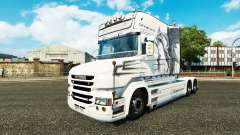 Скин White Dragon на тягач Scania T для Euro Truck Simulator 2