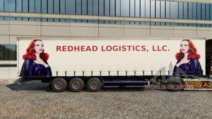 Скины Redhead Logistics на полуприцеп для Euro Truck Simulator 2