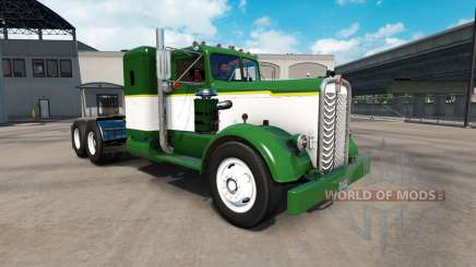 Скин Green & White на тягач Kenworth 521 для American Truck Simulator