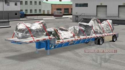 Низкорамный трал Wilson с грузами для American Truck Simulator