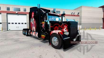 Скин High School DxD Anime на Peterbilt 389 для American Truck Simulator