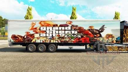 Скин GTA V на полуприцеп для Euro Truck Simulator 2