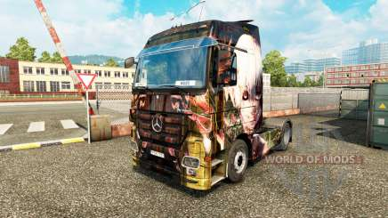 Скин Tokyo Ghoul на тягач Mercedes-Benz для Euro Truck Simulator 2