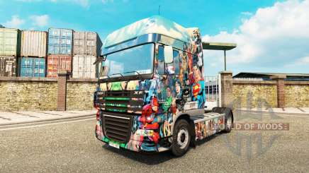 Скин DC Comics на тягач DAF для Euro Truck Simulator 2
