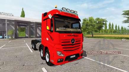 Mercedes-Benz Actros (MP4) 8x8 v1.2 для Farming Simulator 2017