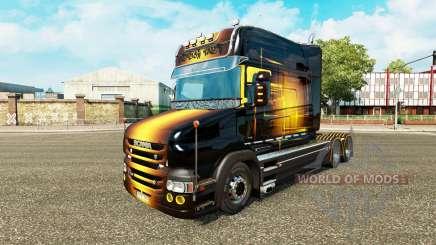 Скин Golden на тягач Scania T для Euro Truck Simulator 2