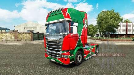 Скин Локомотив v2.0 на тягач Scania для Euro Truck Simulator 2