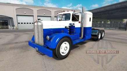 Скин Blue & White на тягач Kenworth 521 для American Truck Simulator