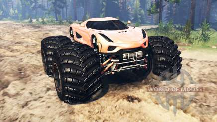 Koenigsegg Regera для Spin Tires
