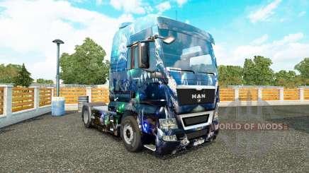 Скин Deep Abyss на тягач MAN для Euro Truck Simulator 2