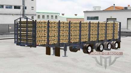 Полуприцеп-лесовоз Manac для American Truck Simulator