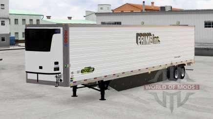 Рефрижераторный полуприцеп Prime Inc. для American Truck Simulator