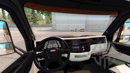 Интерьер Platinium для Peterbilt 579 для American Truck Simulator