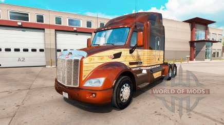 Скин Vintage Wood на тягач Peterbilt 579 для American Truck Simulator