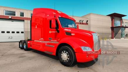Скин C.R. England на тягач Peterbilt 579 для American Truck Simulator