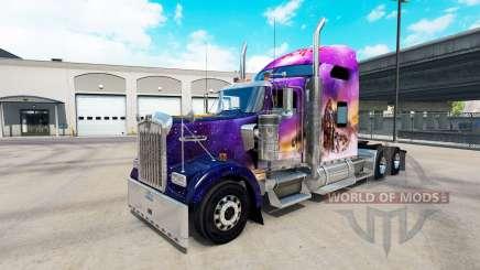 Скин Valerie на тягач Kenworth W900 для American Truck Simulator