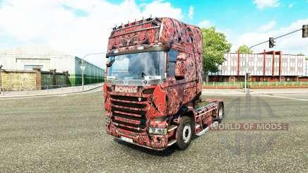 Скин Alien Mask C на тягач Scania для Euro Truck Simulator 2