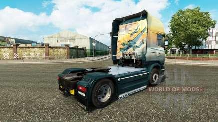 Скин Angels Sky на тягач Scania для Euro Truck Simulator 2