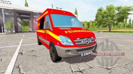 Mercedes-Benz Sprinter feuerwehr для Farming Simulator 2017