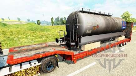 Полуприцепы с железнодорными составами v1.6 для Euro Truck Simulator 2