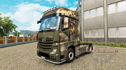 Скин Crusade на тягач Mercedes-Benz для Euro Truck Simulator 2