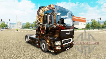 Скин Tiger на тягач MAN для Euro Truck Simulator 2