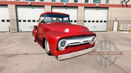 Ford F-100 1956 custom cab для American Truck Simulator