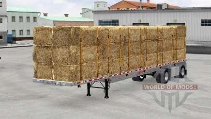 Полуприцеп-площадка с грузами для American Truck Simulator