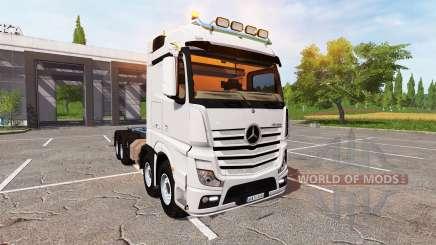 Mercedes-Benz Actros (MP4) 8x8 v1.4 для Farming Simulator 2017