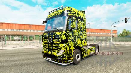 Скин Alien Mask на тягач Mercedes-Benz для Euro Truck Simulator 2