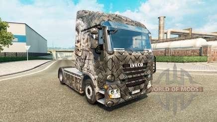 Скин Skeleton Warrior на тягач Iveco для Euro Truck Simulator 2
