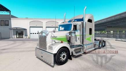 Скин Movin On на тягач Kenworth W900 для American Truck Simulator