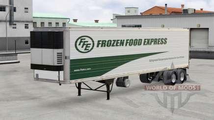 Скин Frozen Wood Express на полуприцеп для American Truck Simulator