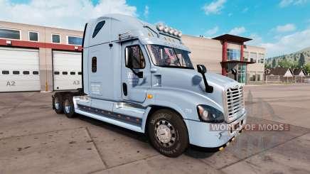 Скин ADL на тягач Freightliner Cascadia для American Truck Simulator