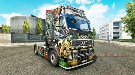 Скин Monsters Attack на тягач Volvo для Euro Truck Simulator 2