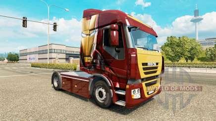 Скин Iron Man на тягач Iveco для Euro Truck Simulator 2