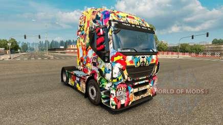 Скин Marvel Universe на тягач Iveco для Euro Truck Simulator 2