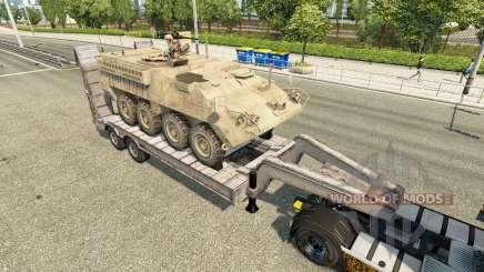Полуприцепы с военной техникой v1.6 для Euro Truck Simulator 2