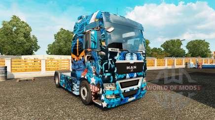 Скин Marvel Heroes на тягач MAN для Euro Truck Simulator 2