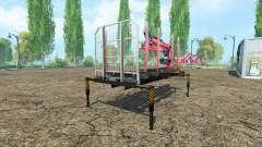 Лесовозная платформа с манипулятором v1.2 для Farming Simulator 2015