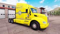 Скин Los Pollos Hermanos на тягач Peterbilt 579 для American Truck Simulator