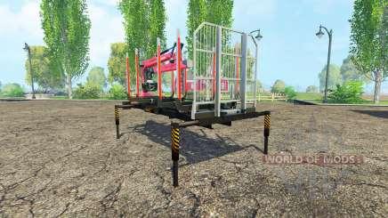 Лесовозная платформа с манипулятором v1.3 для Farming Simulator 2015