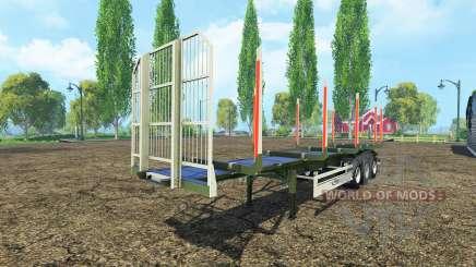 Лесовозный полуприцеп Fliegl для Farming Simulator 2015
