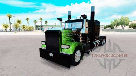 Скин Flame на тягач Peterbilt 389 для American Truck Simulator